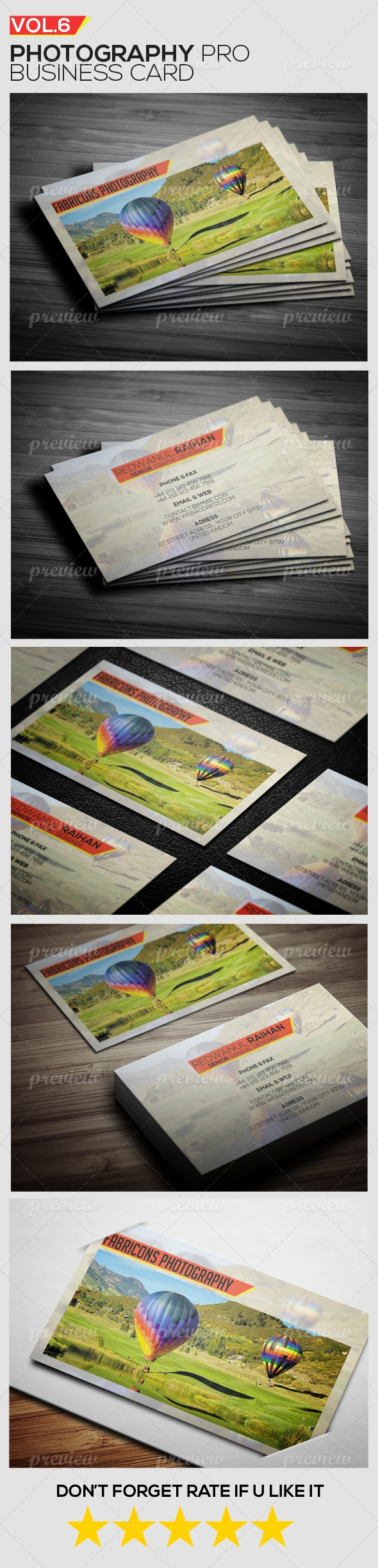 Photography Pro Business Card Vol.2