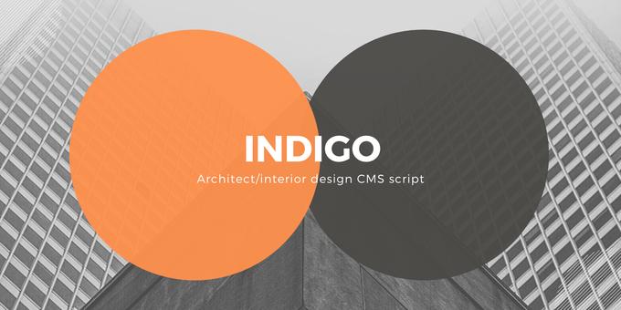 Indigo - Architect/Interior Design Agency CMS Script