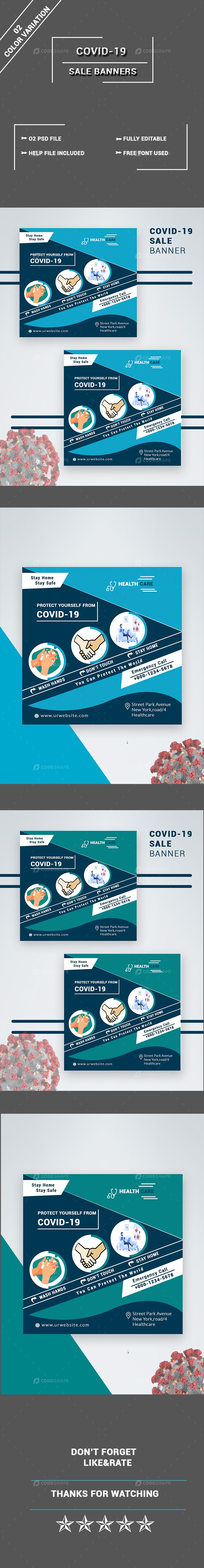 Covid-19 Sale Banner