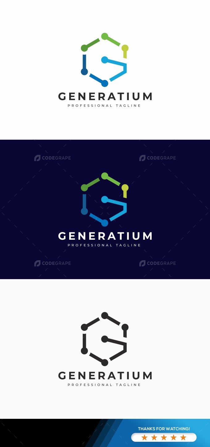 Generatium G Letter Logo