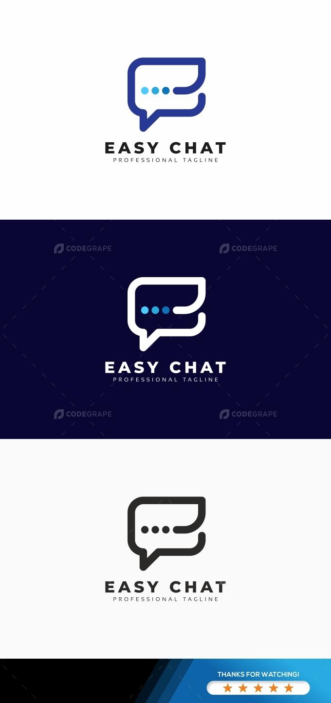 Easy Chat E Letter Logo