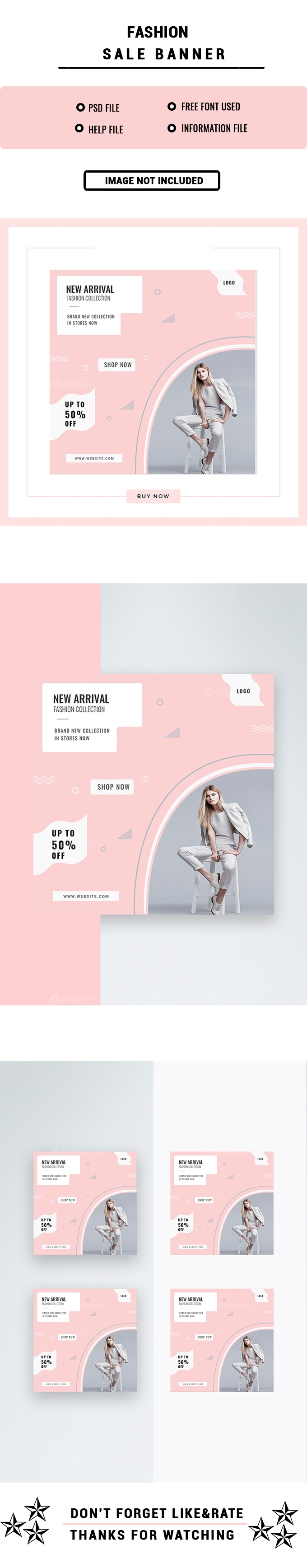 New Arrival Fashion Sale Banner