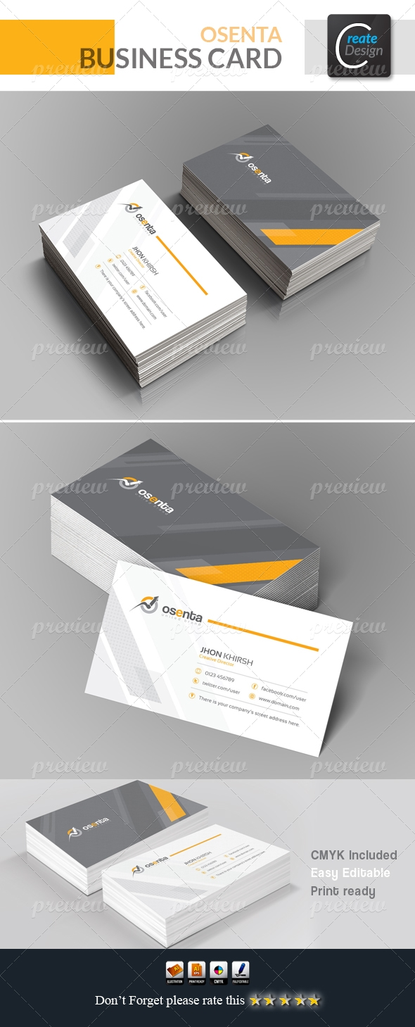 Osenta Corporate Business Card