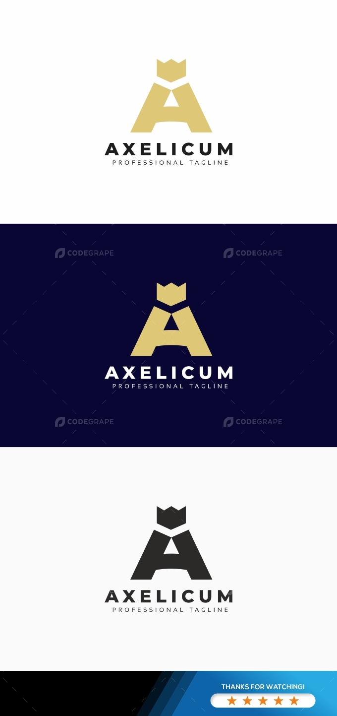 A Letter Luxury Logo