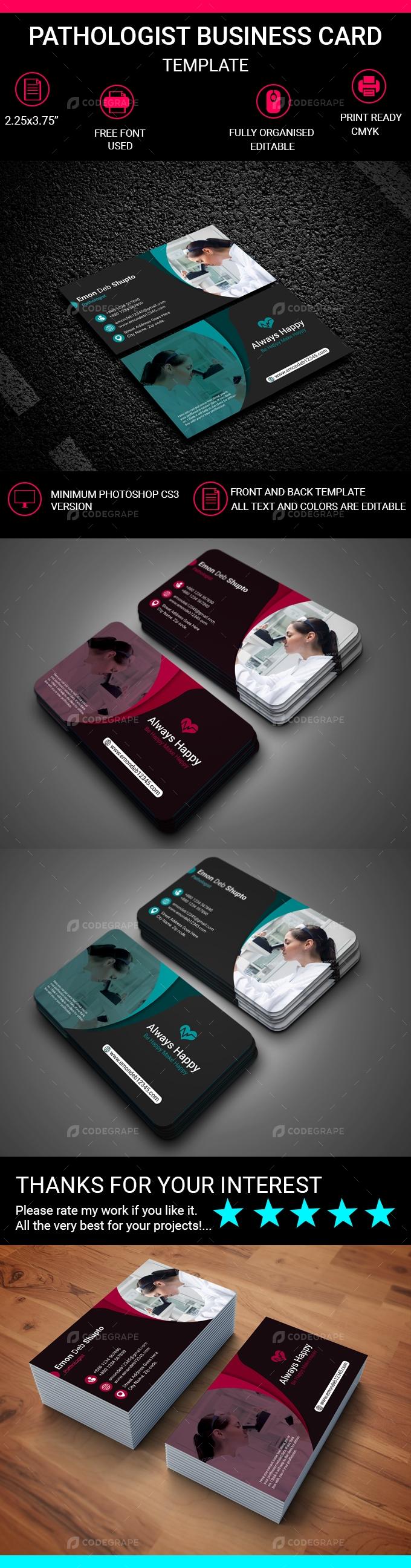 Pathologist Business Card