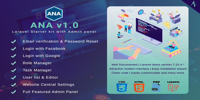 ANA - Login & Role Management System with Admin Panel