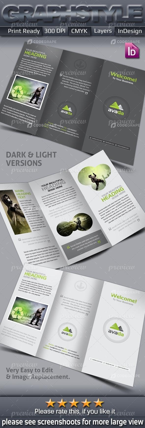 Avata Tri-fold Corporate Business Brochure