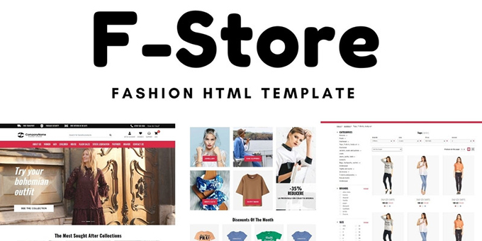 F-Store - Fashion HTML Template