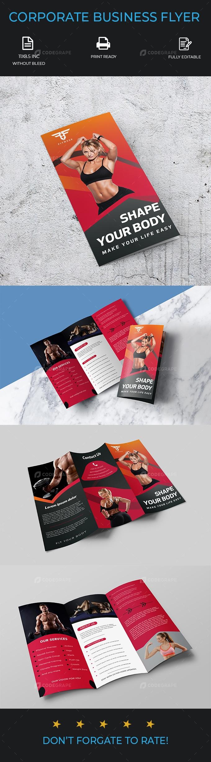 Gym Brochure Design