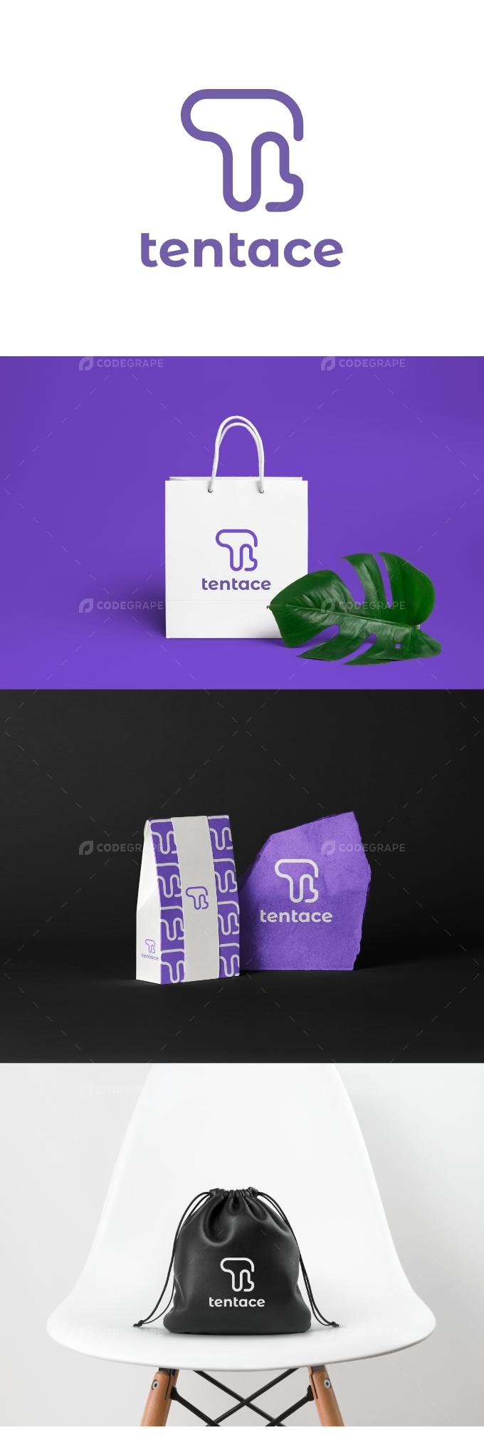 Letter TL Line - Tentace Logo