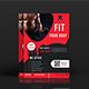 Corporate gym flyer design