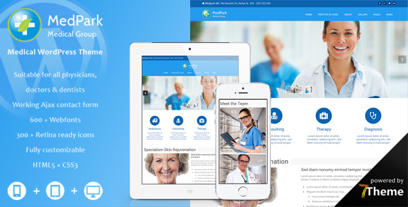 MedPark - Responsive WordPress Medical Theme