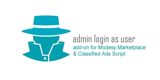 Admin Login as User/Vendor Add-on for Modesy Script