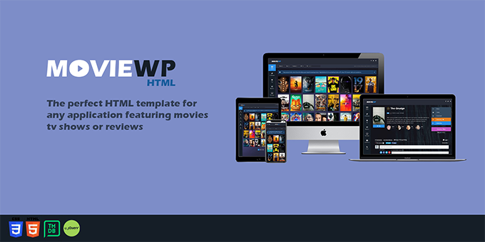 MovieWP - Movie & TV Show HTML template