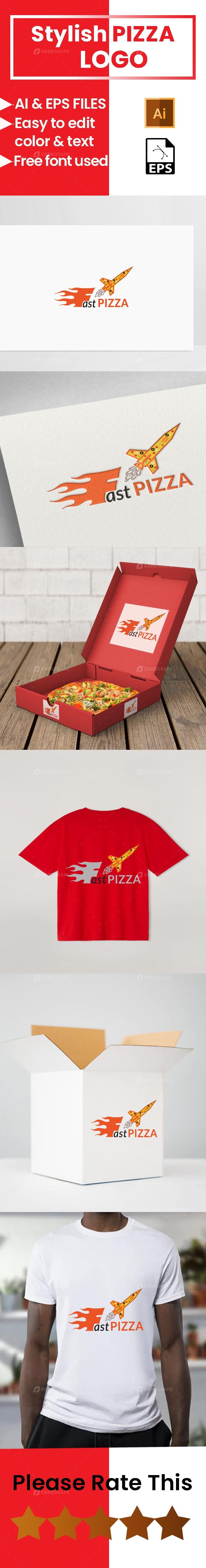 Stylish Pizza Logo