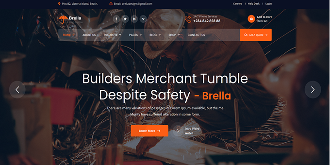 Brella Sweet Website Template