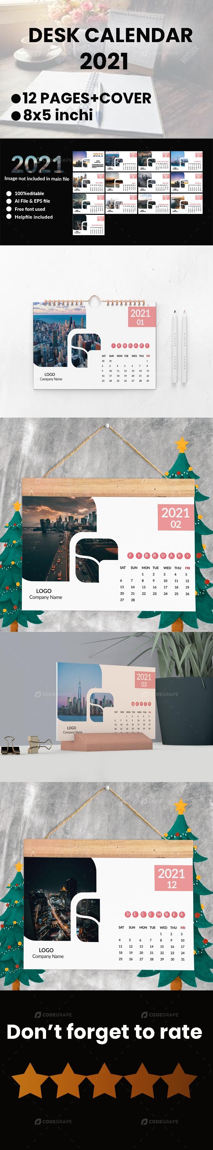 Stylish Desk Calendar