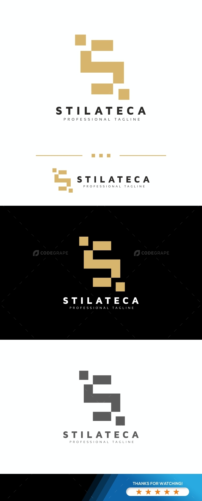 S Letter Pixel Logo