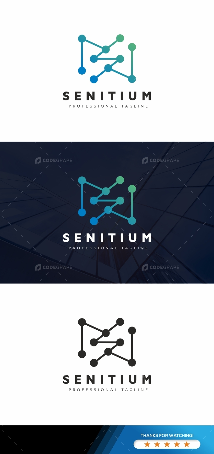 S Letter Tech Logo