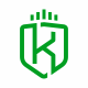 K Letter Shield Logo