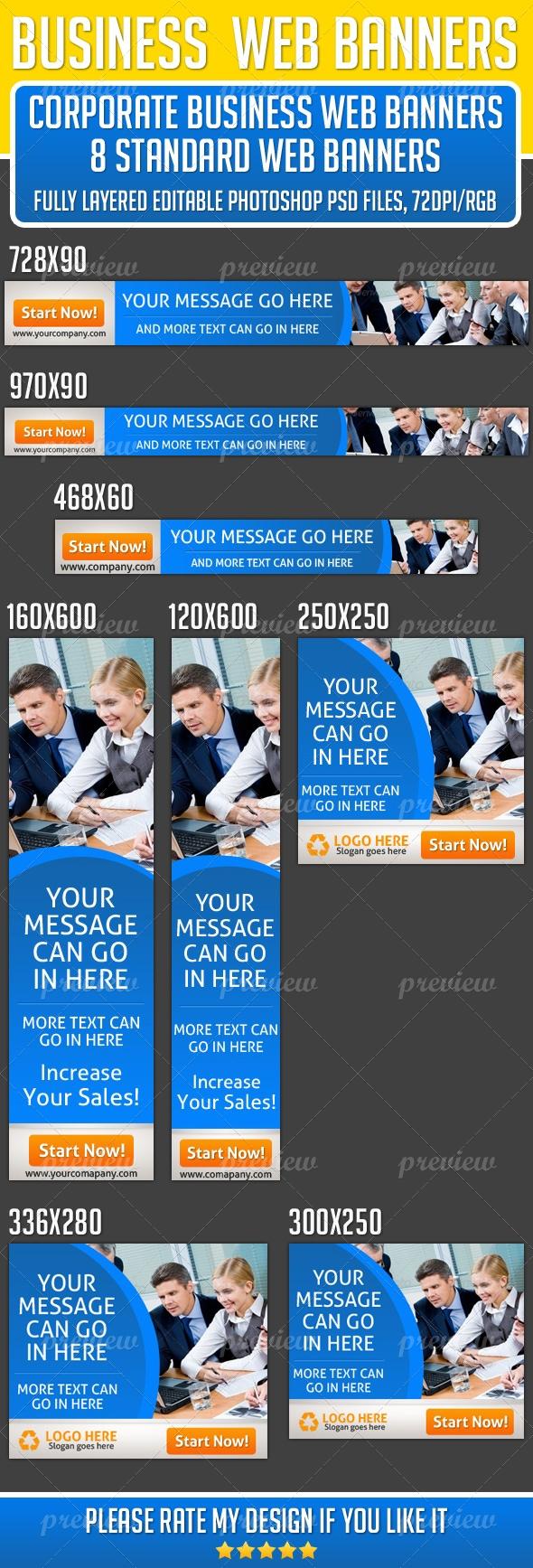 Corporate Business Web Banner Design