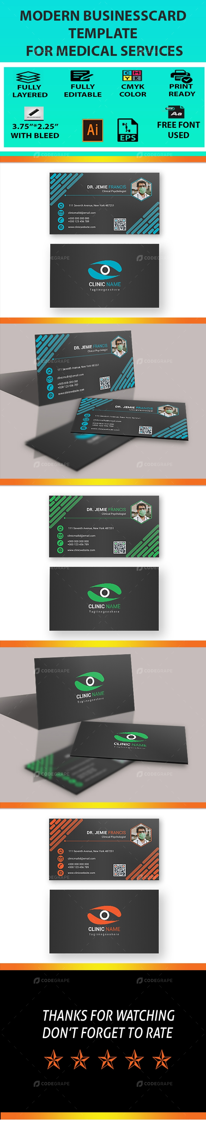 Modern Medical and Corporate Business Card 04