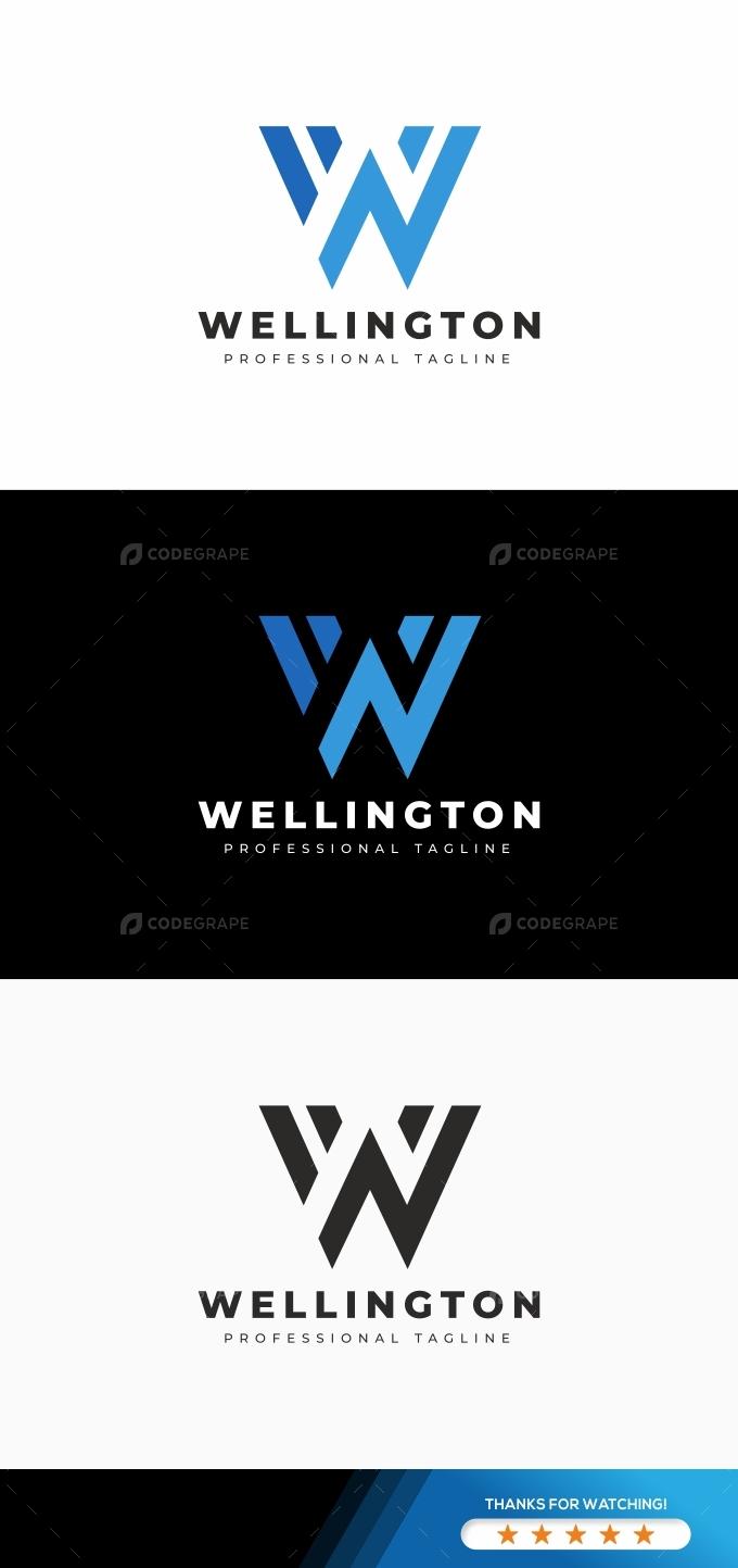 Wellington W Letter Logo