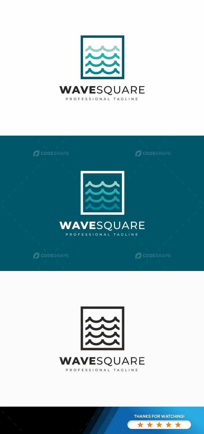 Wave Square Logo