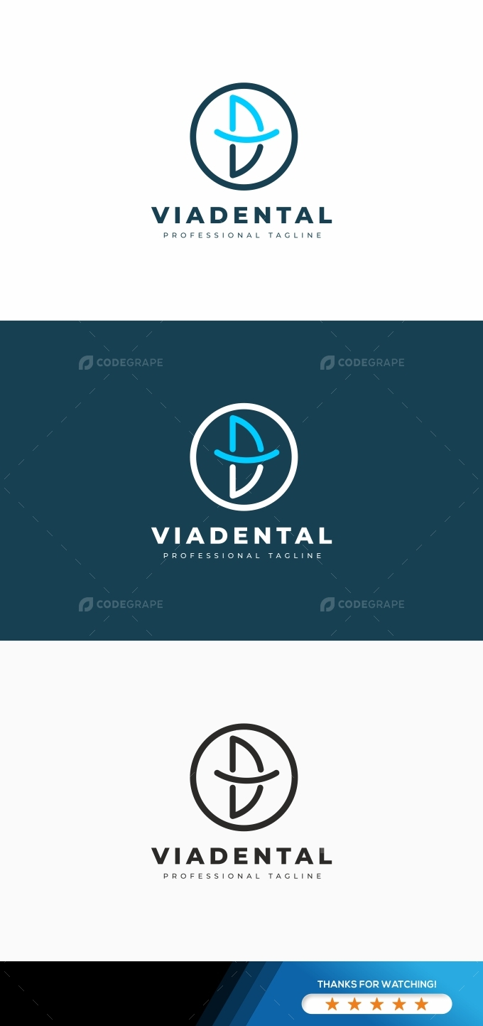 V Dental Logo