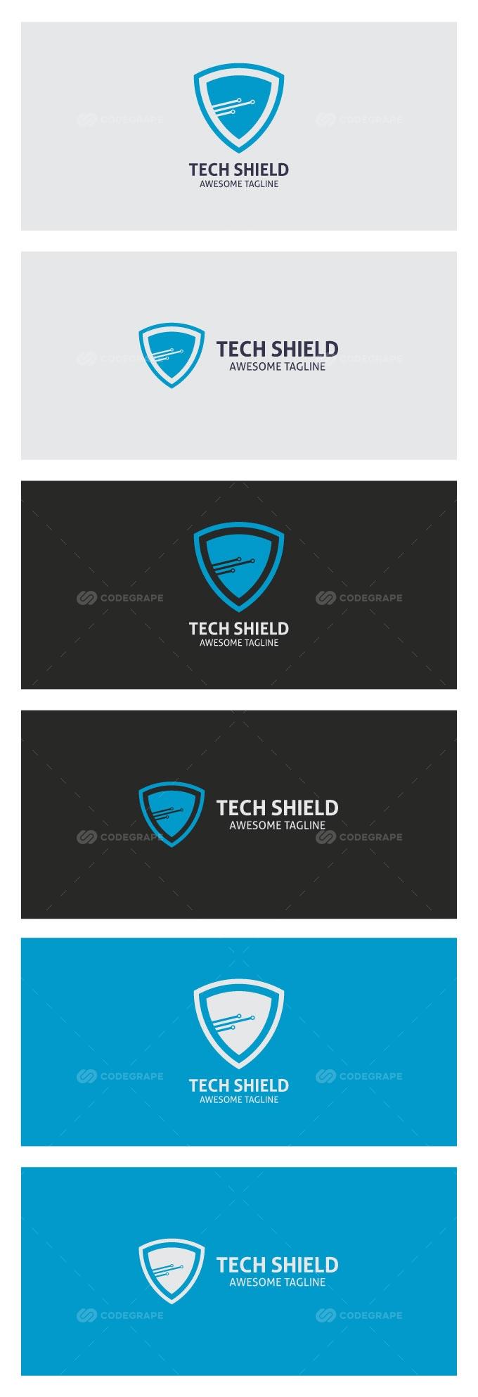 Tech Shield Logo