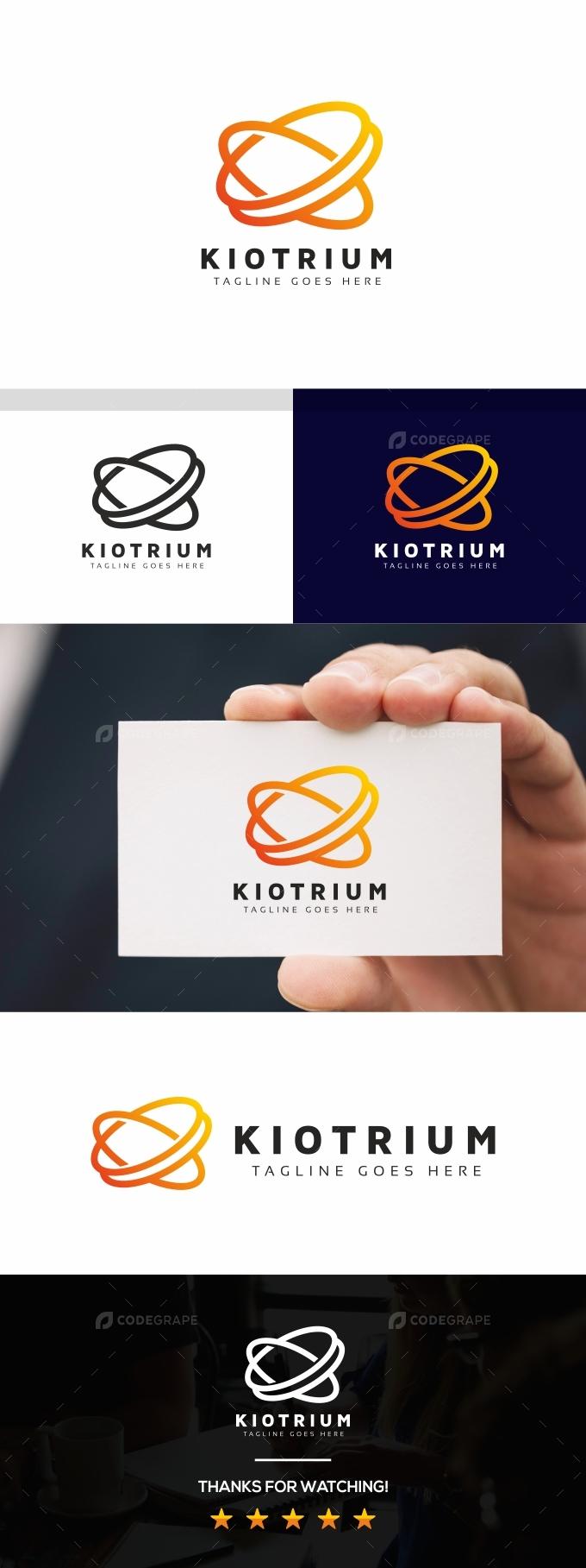 Abstract K Letter Logo