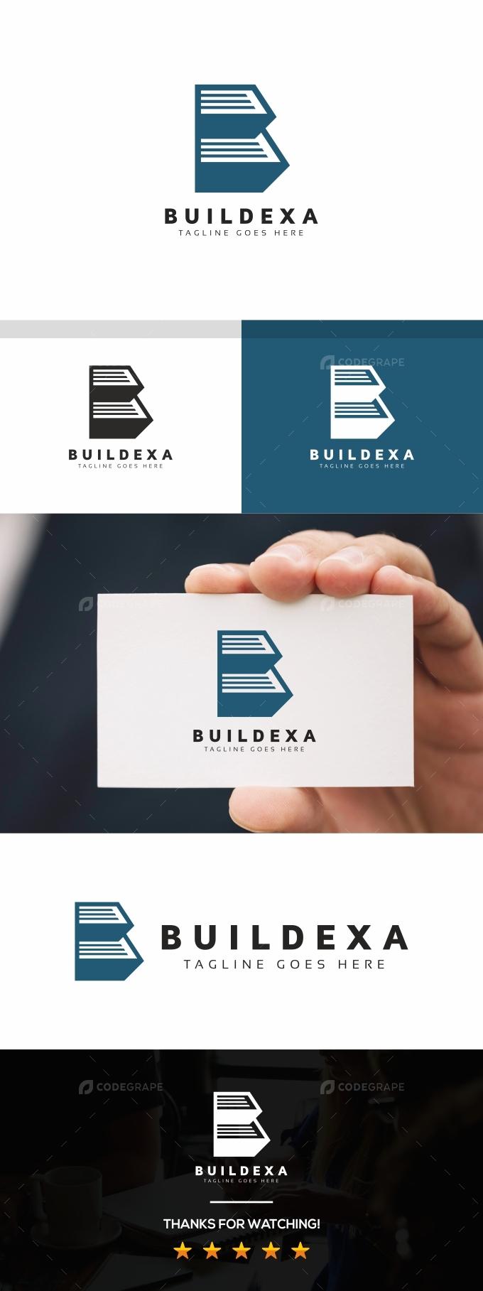 BuildingB Letter Logo
