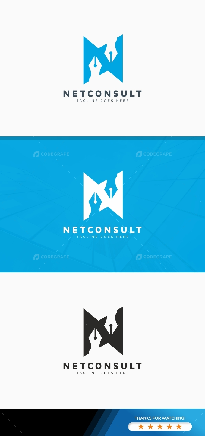 Consulting N Letter Logo
