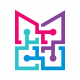 Abstract M letter Logo