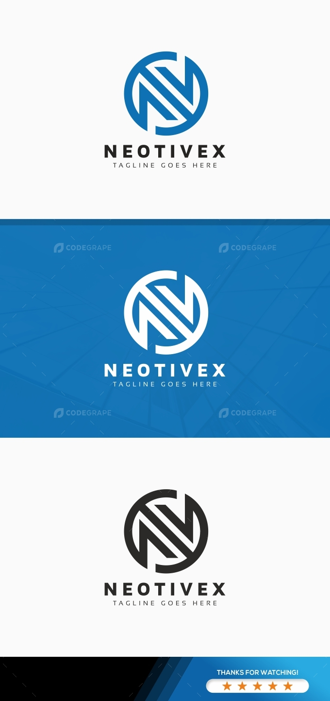 Abstract N Letter Logo