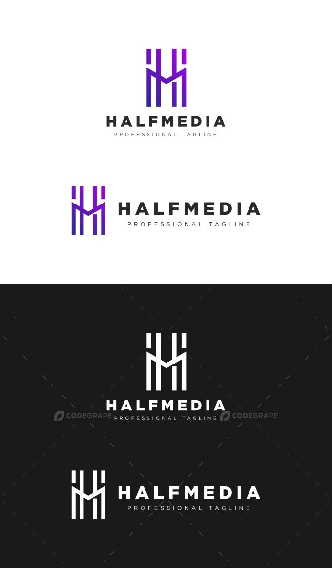 Abstract H Letter Media Logo