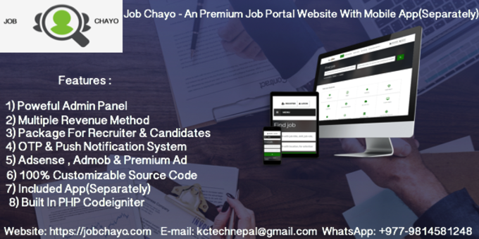 Job Chayo - An Premium Job Portal Website With Android + IOS App