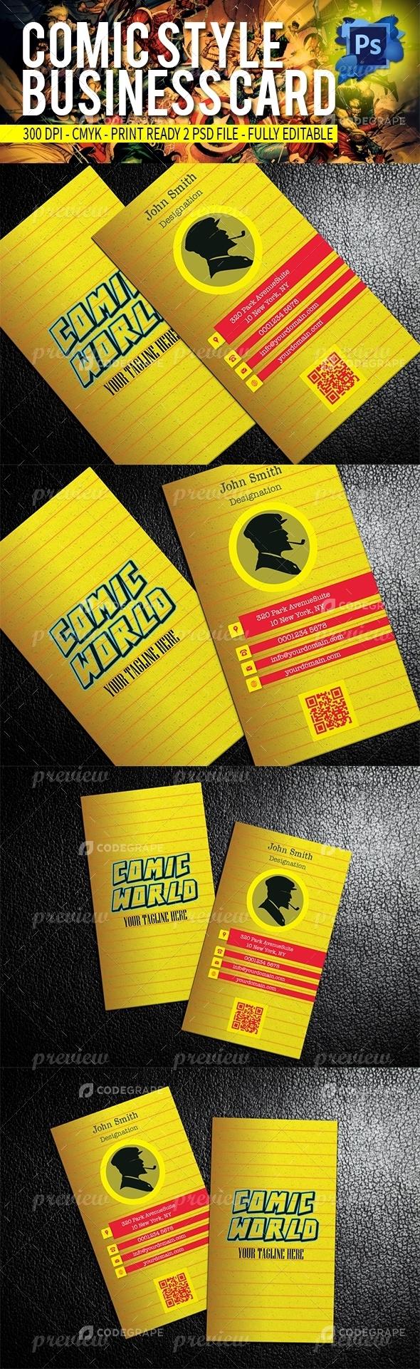 Comic business card print codegrape comic business card magicingreecefo Choice Image