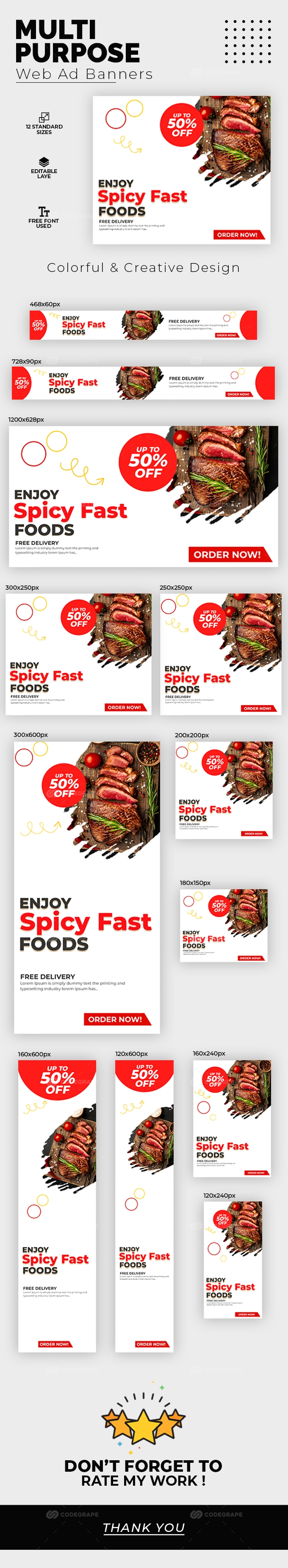 Multipurpose web Ads Banner