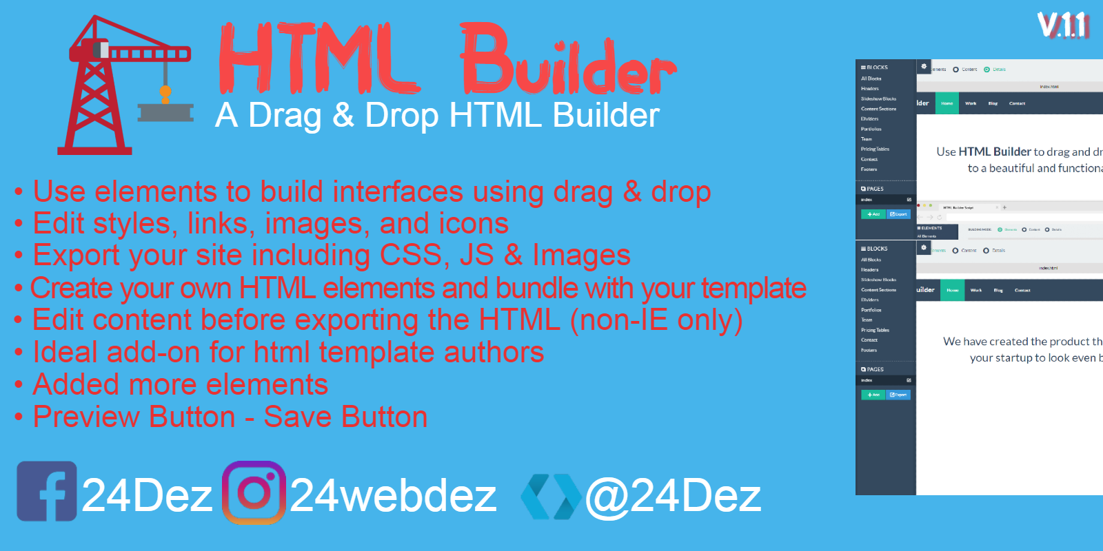 HTML Builder Front-End Version PHP
