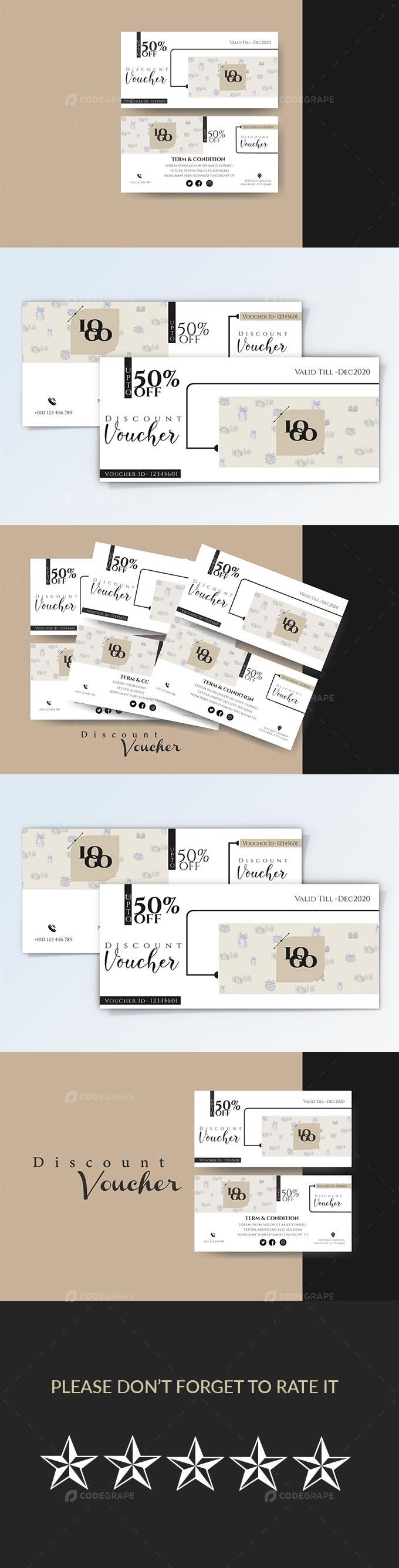 Trendy Discount Voucher Card Template