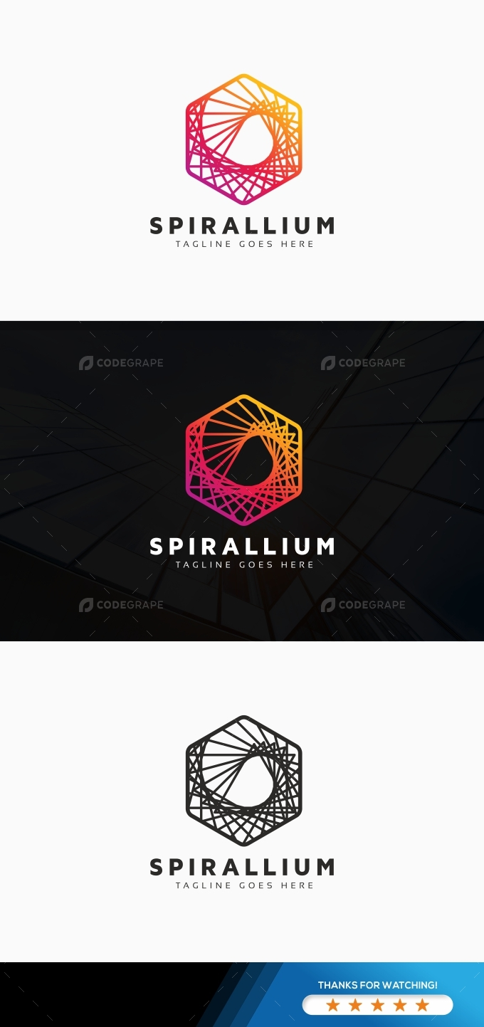 Creative Hexagon Line Logo