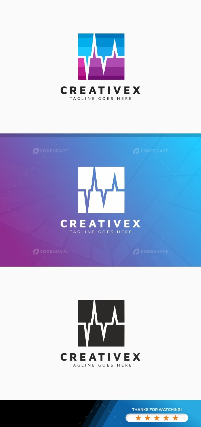 Creative Radio Wave Logo