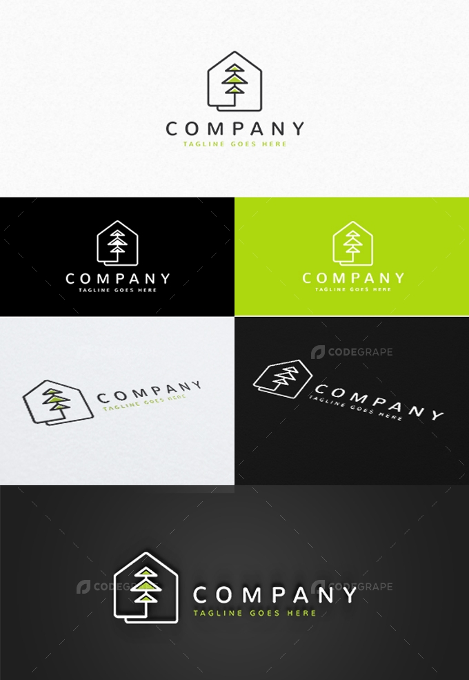 Tree House Logo Template