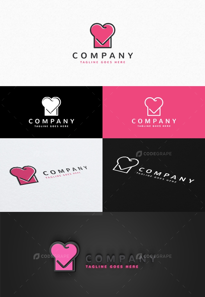 Cooking Love Logo Template