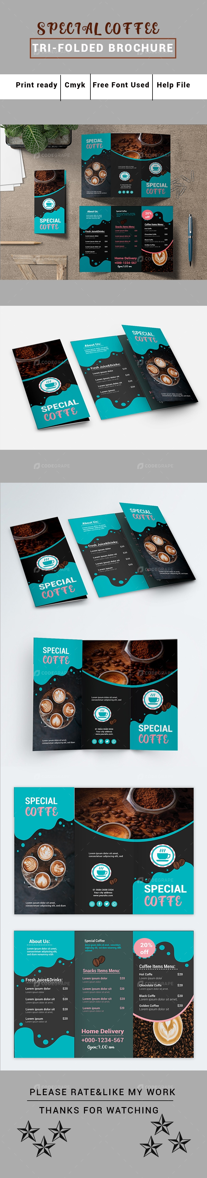 Special Coffee Tri Folded Brochure