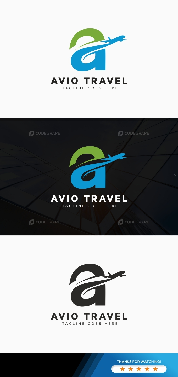 Travel A Letter Logo