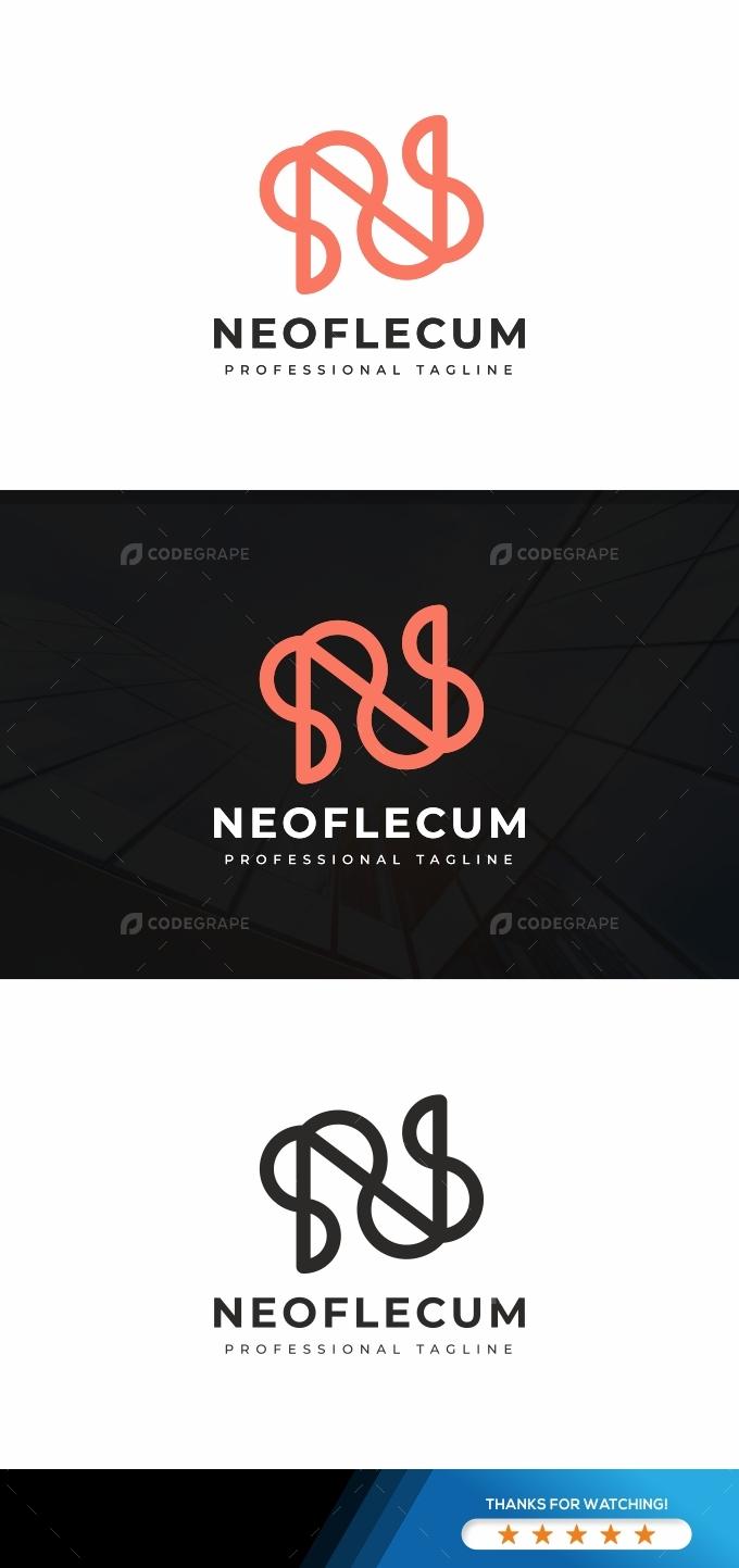 Neoflecum N Letter Logo