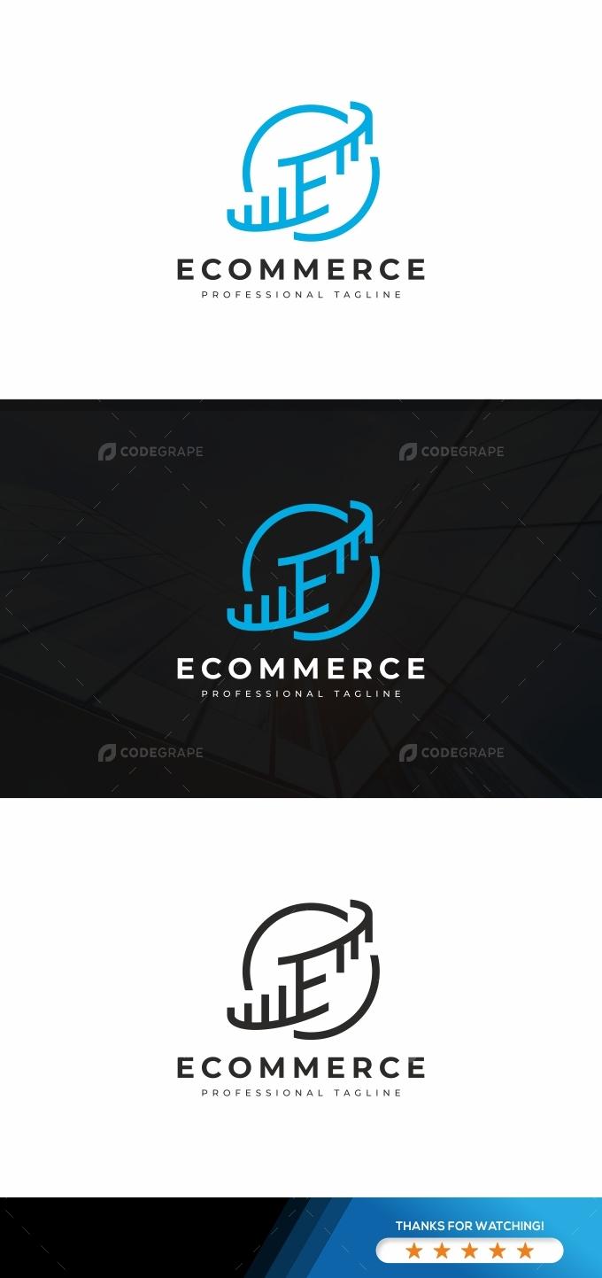 Ecommerce E Letter Logo