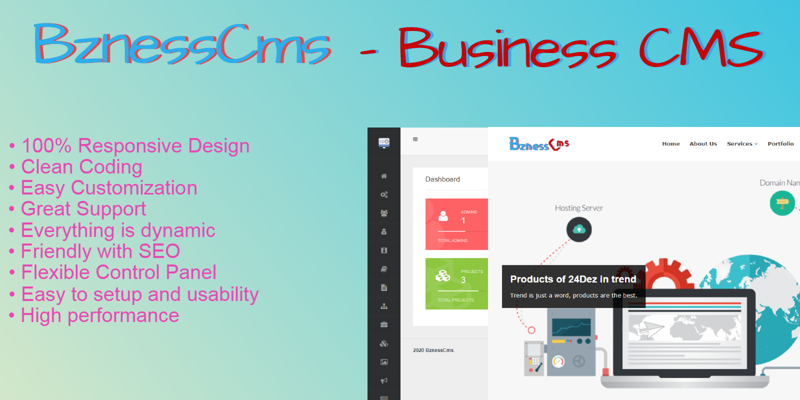 BznessCms - Business CMS